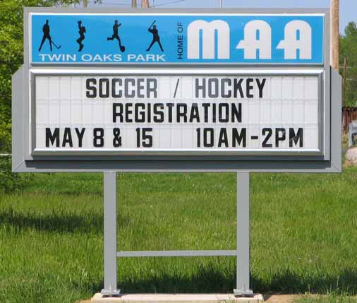 Middletown Athletic Assoc outdoor sign