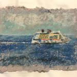 "The Crusie 2017 -  8"" X 6"" On Location/Virgin Islands 1 Hr. Oil Pastel Sketch Applied On Hand Made Paper By Ray Granados"